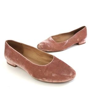 Madewell The Leia Ballet Flat in Pink Velvet 8.5
